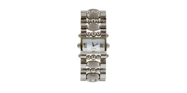 Dámské ocelové hodinky Gianfranco Ferré s ozdobným náramkem a stříbrným…