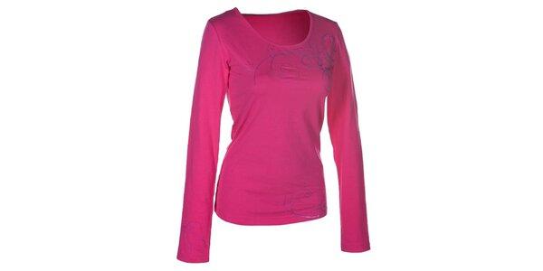 Dámské růžové tričko s dlouhým rukávem Envy