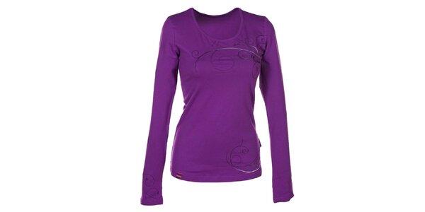 Dámské fialkové tričko s dlouhým rukávem Envy