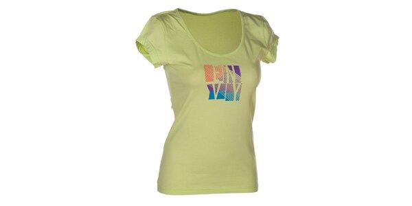 Dámské zelené bavlněné tričko s potiskem Envy