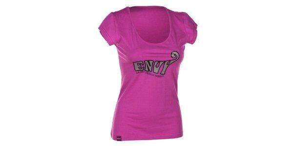 Dámské růžové bavlněné tričko s krátkým rukávem Envy