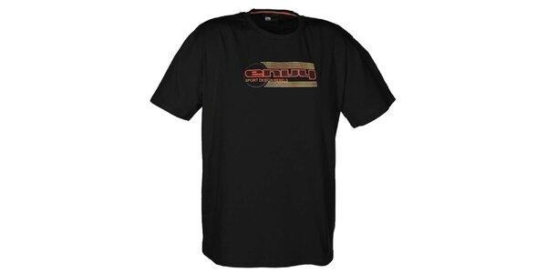 Pánské černé tričko s potiskem loga Envy