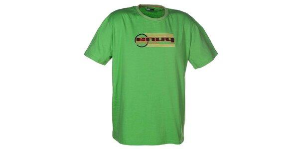 Pánské zelené tričko s potiskem loga Envy