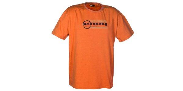 Pánské oranžové tričko s potiskem loga Envy