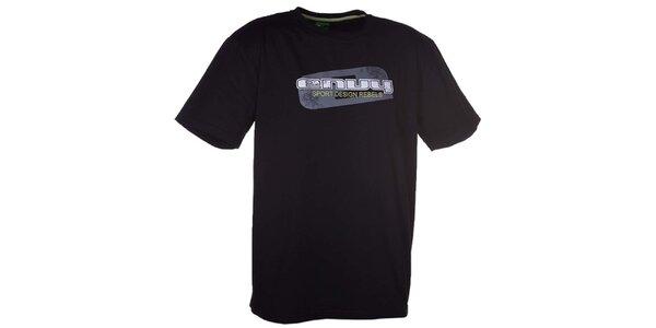 Pánské černé tričko s potiskem Envy