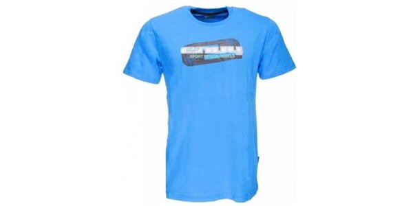 Pánské modré tričko s potiskem Envy