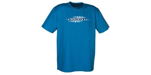 Pánské modré tričko se světlým potiskem Envy