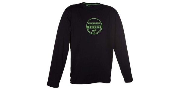 Pánské černé tričko s dlouhým rukávem Envy
