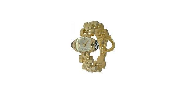 Dámské zlaté náramkové hodinky Gianfranco Ferré s bílým ciferníkem