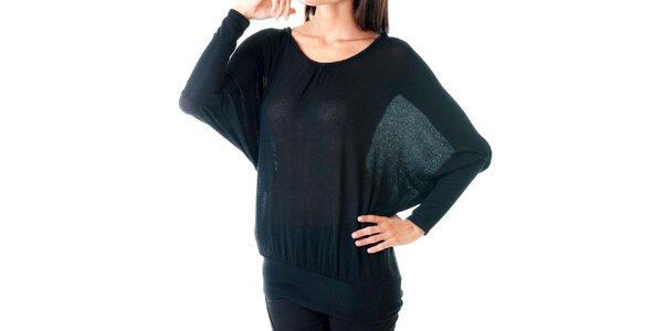 Dámský černý svetr s krajkovými zády Goa Goa