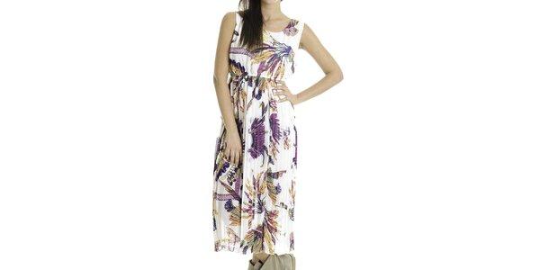 Dámské bílé šaty s barevným potiskem Goa Goa