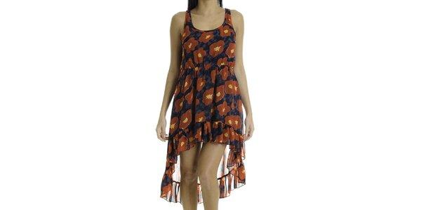 Dámské šaty bez rukávů s červenými květy Goa Goa