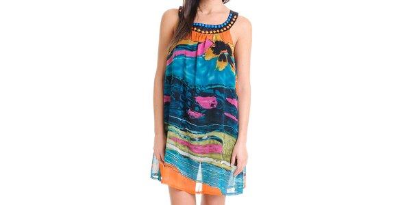 Dámské letní vzdušné barevné šaty Goa Goa