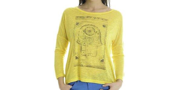 Dámské žluté tričko s dlouhým rukávem Goa Goa