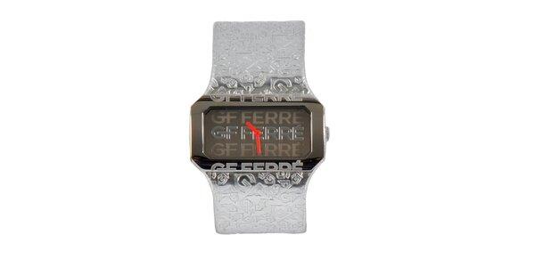 Dámské ocelové hodinky Gianfranco Ferré se stříbrným koženým řemínkem
