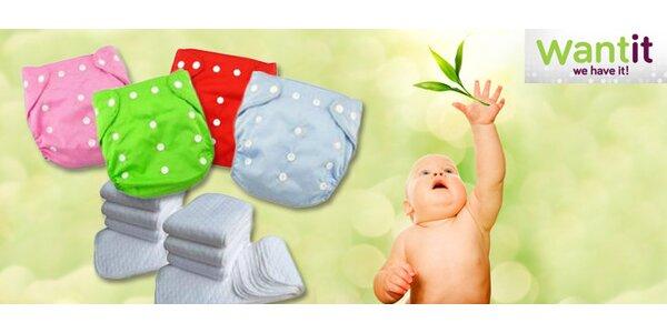 Textilní plenky a plenkové kalhotky v hravých barvách