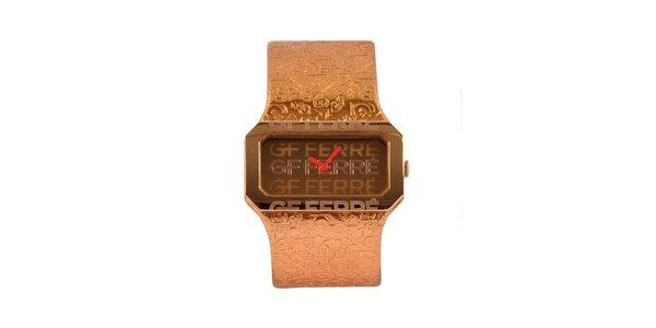 Dámské ocelové hodinky Gianfranco Ferré v odstínu růžového zlata