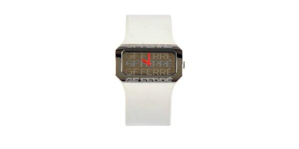 Dámské bílé hodinky Gianfranco Ferré s bílým lakovaným řemínkem