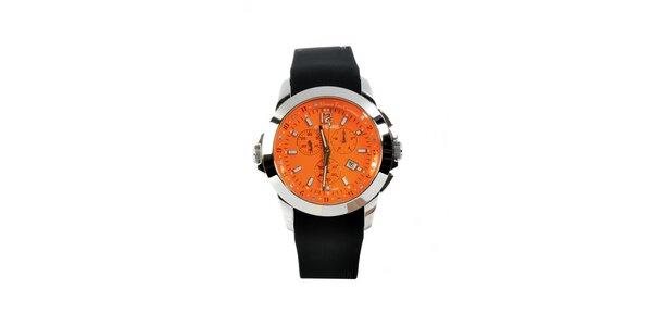 Dámské ocelové hodinky Gianfranco Ferré s černým silikonovým řemínkem