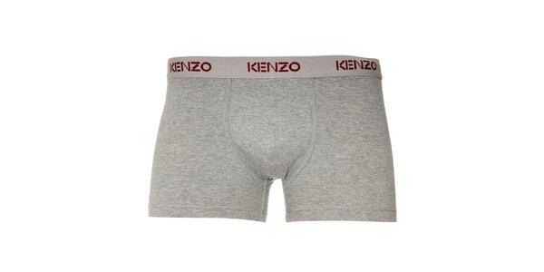 Pánské šedé elastické boxerky Kenzo