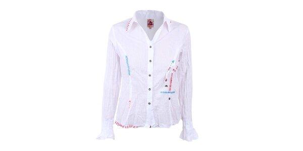 Dámská bílá mačkaná košile Dislay DY Design
