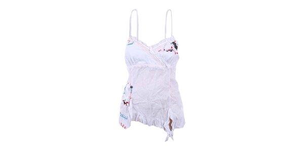 Dámský bílý mačkaný top Dislay DY Design