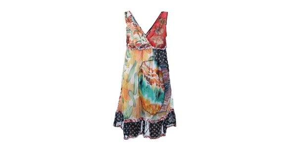 Dámské pestrobarevné šaty bez rukávů Dislay DY Design