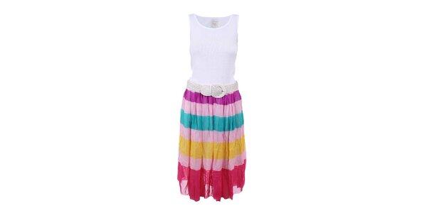 Dámské šaty s vícebarevnou sukní Dislay DY Design