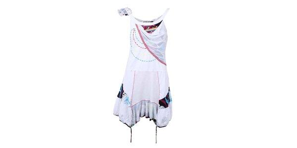 Dámské bílé cípaté šaty Dislay DY Design