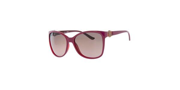 Dámské fuchsiové brýle s hnědými sklíčky Guess