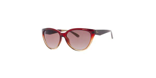 Dámské duhové červeno-žluté sluneční brýle Guess