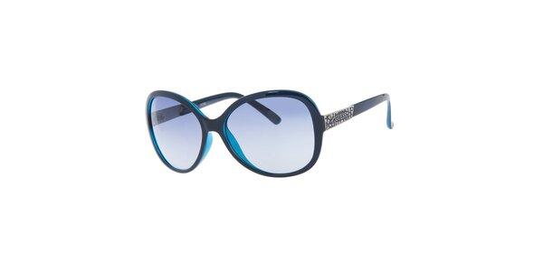Dámské tmavě modré sluneční brýle Guess