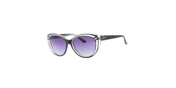 Dámské transparentní sluneční brýle Guess s černými stranicemi