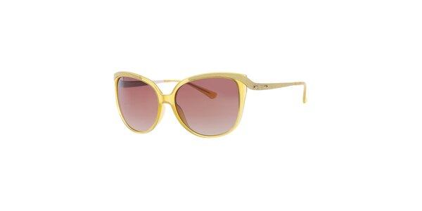 Dámské kanárkově žluté sluneční brýle Guess