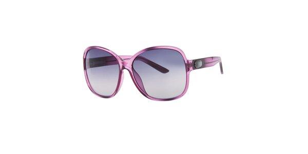 Dámské fialkové hranaté sluneční brýle Guess