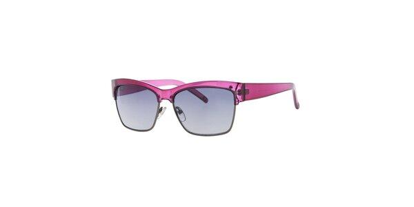 Dámské růžové hranaté sluneční brýle Guess