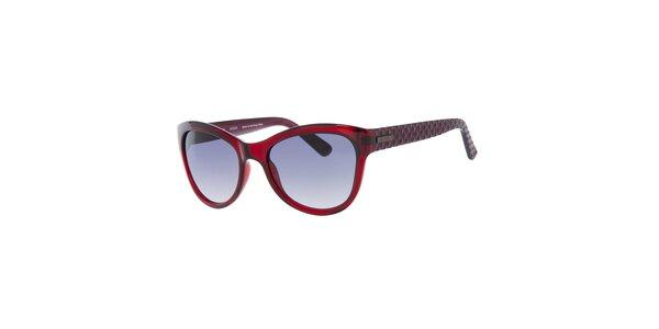 Dámské rudé sluneční brýle Guess