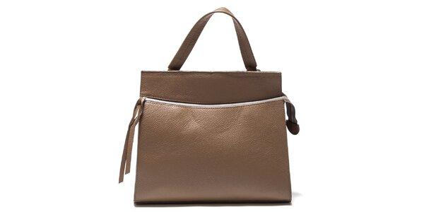 Dámská béžová kabelka s horizontálním zipem Isabella Rhea