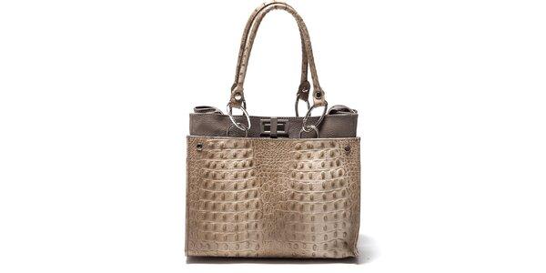 Dámská béžová kabelka s imitací kůže Isabella Rhea
