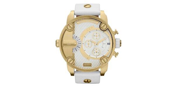 Pánské zlaté hodinky Diesel s multifunkčním ciferníkem 685fd247270