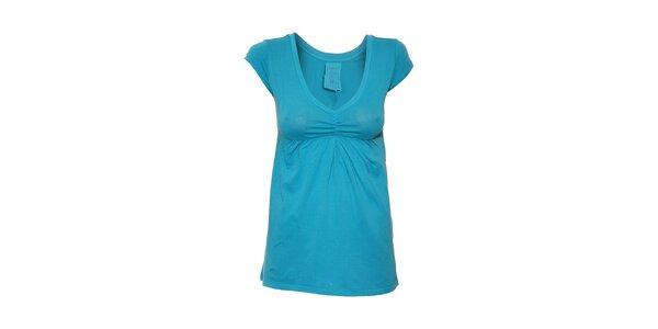 Dámské tričko s výstřihem do V značky Timeout v azurové barvě