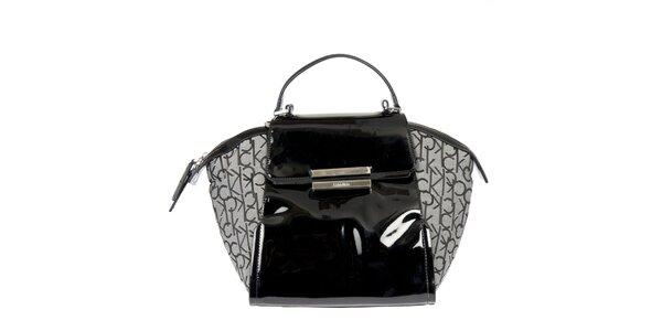 Dámská černo-šedá kabelka se vzorem Calvin Klein