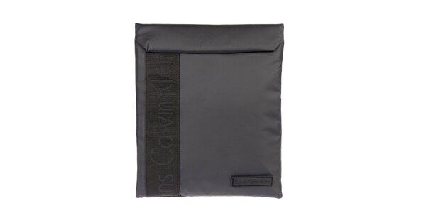 Šedočerný obal na tablet Calvin Klein Jeans