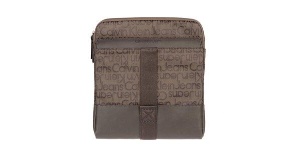 Pánská hnědá taška přes rameno Calvin Klein Jeans