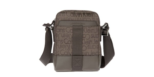 Pánská hnědá látková taška přes rameno Calvin Klein Jeans