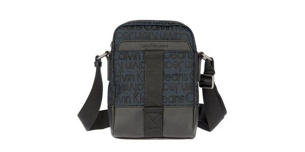 Pánská tmavě modrá látková taška přes rameno Calvin Klein Jeans