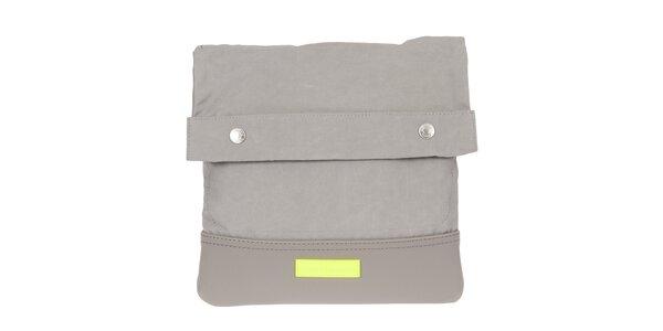 Pánská šedá taška přes rameno s neonovým detailem Calvin Klein Jeans
