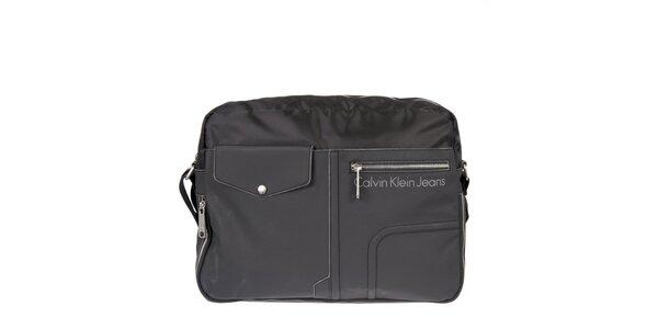 Pánská antracitová městská taška Calvin Klein Jeans
