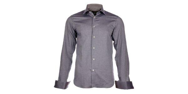 Pánská světle šedá košile Calvin Klein