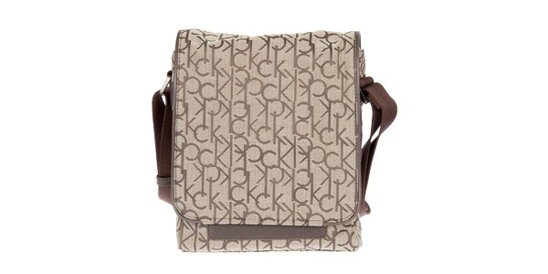 Pánská hnědá městská taška přes rameno Calvin Klein